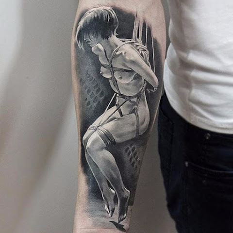15 Intense Shibari Tattoos