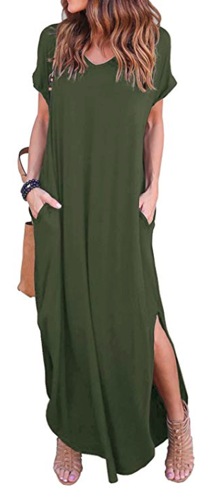 Grecerelle Pocketed Maxi Dress