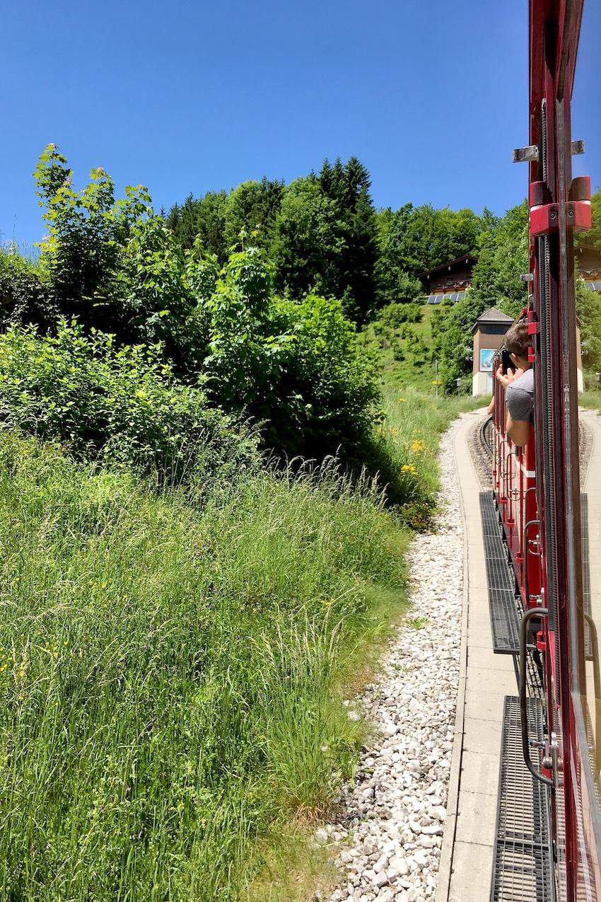 Schafbergbahn Auffahrt