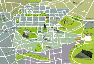 Mapa de Edimburgo.