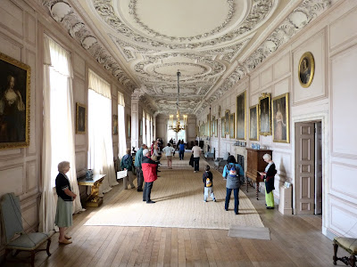 The Long Gallery, Sudbury Hall - but alas, no portrait of Darcy! © regencyhistory.net