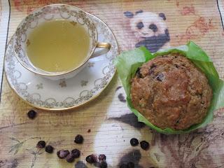 Muffins complets aux myrtilles sans sucres ajoutés, focons d'avoine, purée de dattes, recettes pour Ma Challenge Box