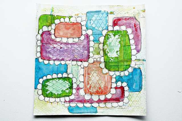 Mixed Media Tags aus Cardstock