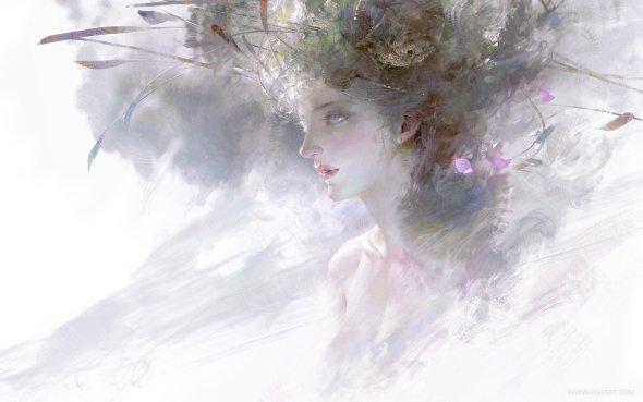 Guangjian Huang hgjart deviantart ilustrações fantasia chinesa mulheres