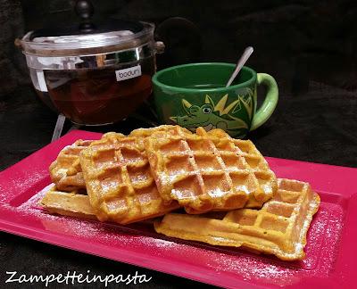 Waffle alla zucca - Ricetta waffle alla zucca senza burro