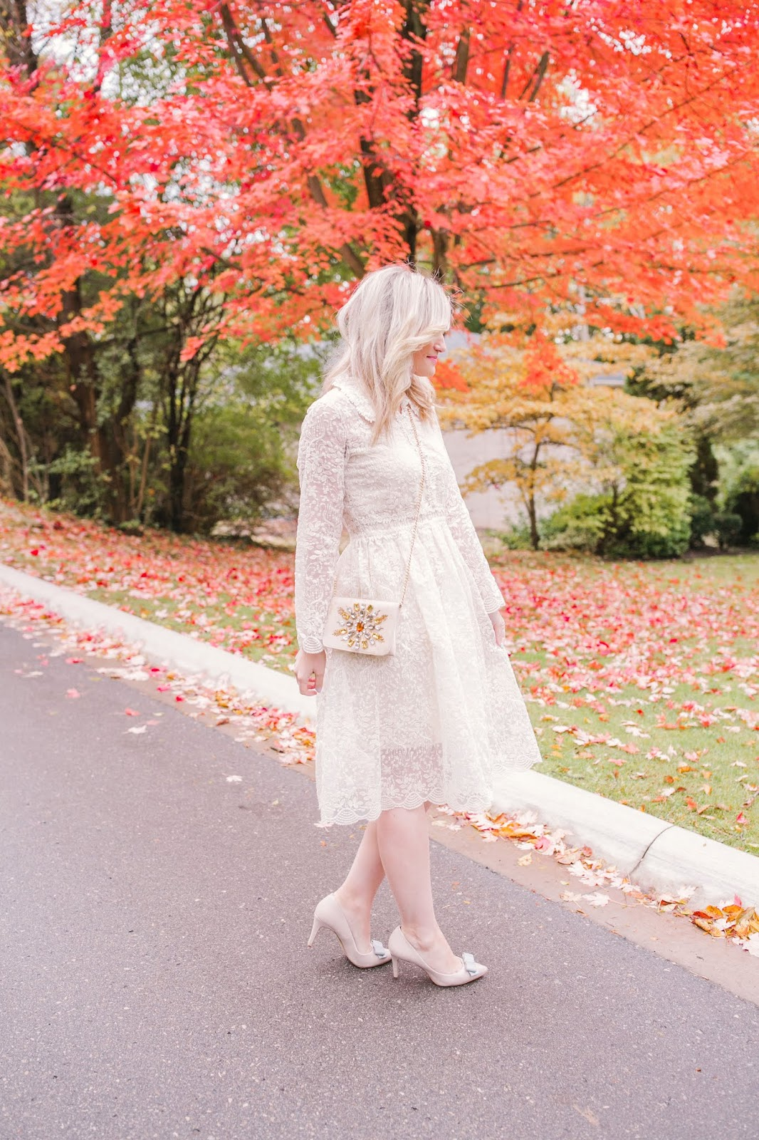 Bijuleni - What To Wear To Your Bridal Shower - Chicwish white lace dress