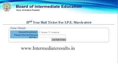 Ap Inter 2nd Year Hall Ticket