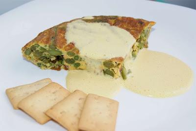 receta de tortilla de espárragos y chorizo