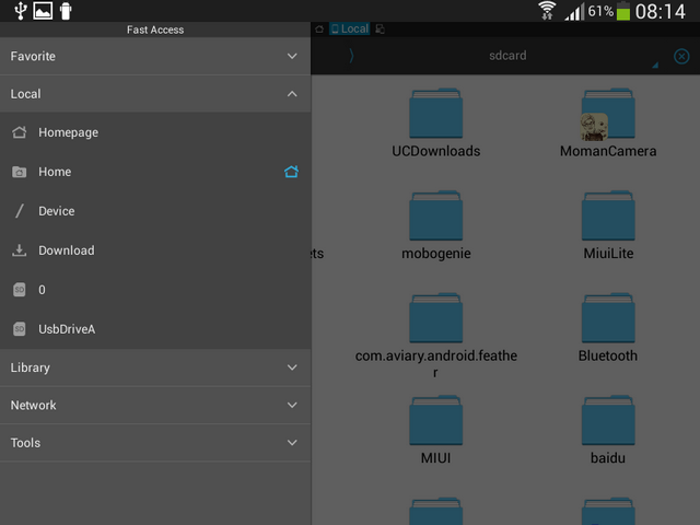 ES File Explorer USB OTG