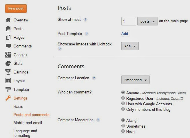 Cara Setting Standar SEO Blog di Dashboard