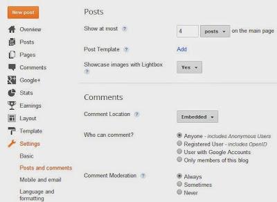 Cara Setting Standar SEO Blog di Dashboard