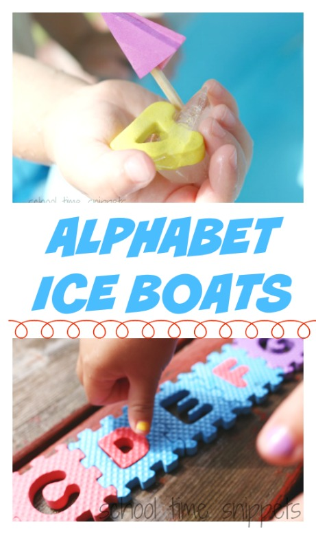 alphabet activity for toddlers - abc ice boats