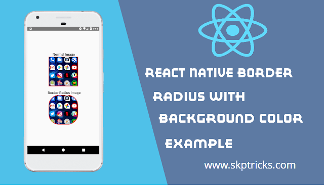 React Native Border Radius with background color Example