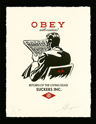 Obey With Caution Shepard Fairey Art Print