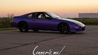 Purple Nissan 300Z Sunset