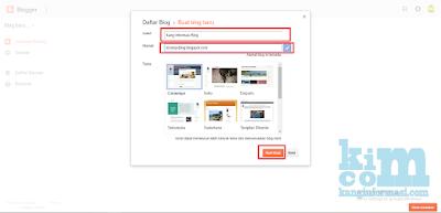Cara Membuat Blogger dan Penjelasan Fitur Lengkap - Kanginformasi.com