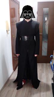 Kylo Ren cosplay prueba