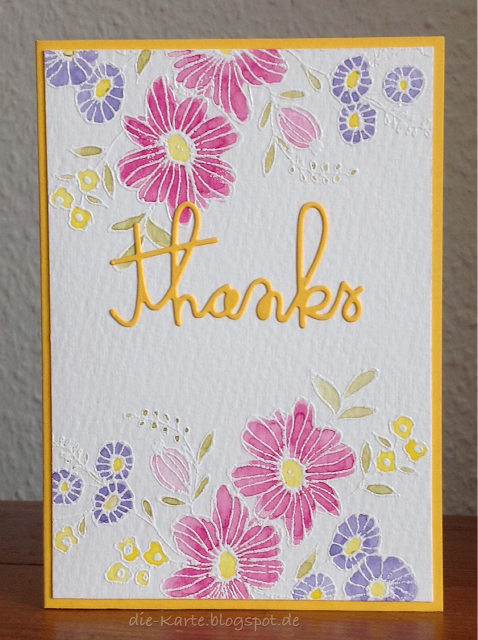 """Cheerful Bloom"" Christine Adolph, ""Thanks"" Stampin' up"
