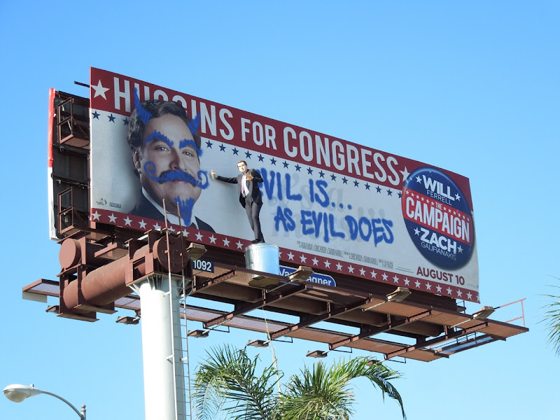 Campaign Evil is evil does special installation billboard