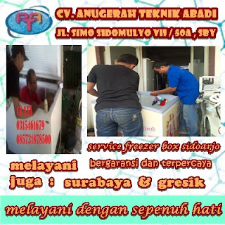 service freezer box murah daerah sidoarjo