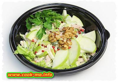 Fresh salad of celery