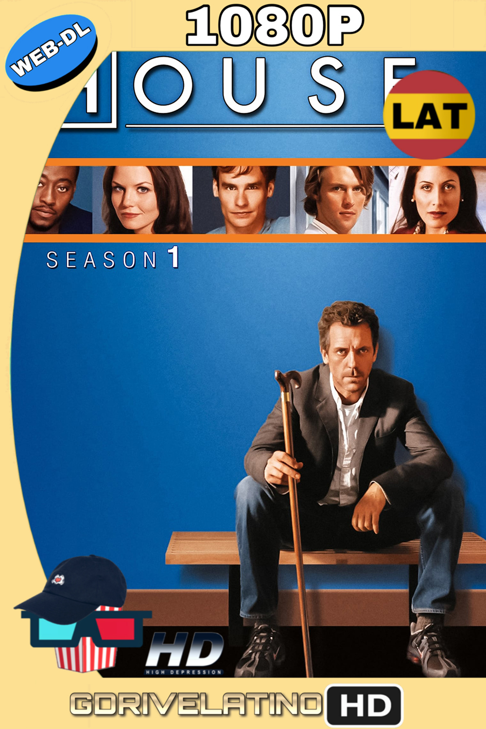 Dr. House Temporada 1 (2004) (22/22) WEB-DL 1080p (Latino-Inglés) MKV