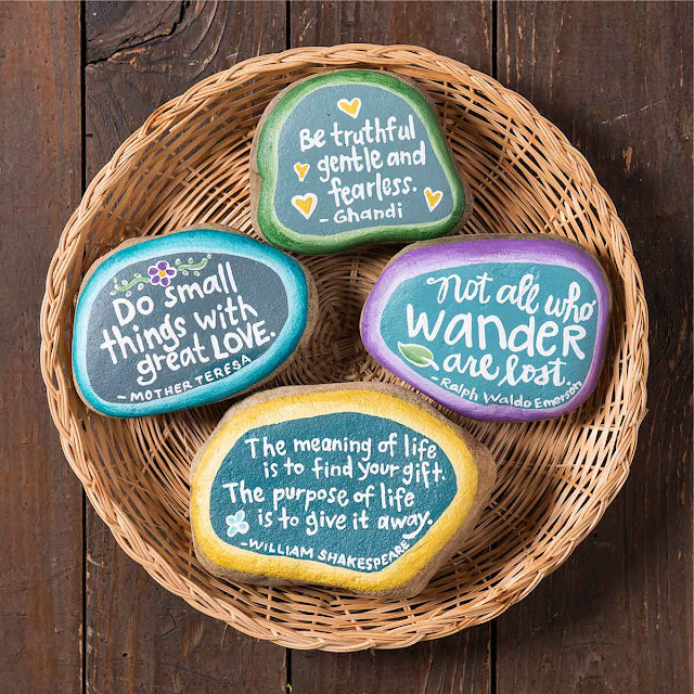 how to paint kindness rocks - ideas for sayings