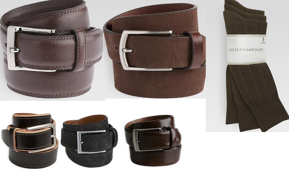 536a5a9198e0 Men's Accesories Sale! Joseph Abboud Embossed Leather Belt $5.99, Joseph  Abboud Suede Belt $5.99, 3 Pack Men's Joseph Abboud Dress Socks (Olive  Color) $2.99 ...