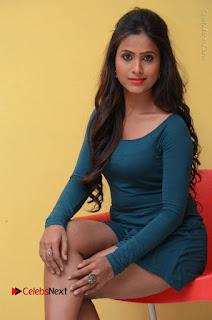 Telugu Actress Prasanthi Stills in Green Short Dress at Swachh Hyderabad Cricket Press Meet  0073.JPG