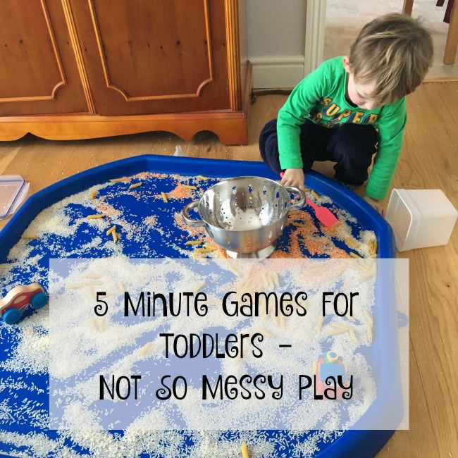 5-minute-games-for-toddlers-not-so-messy-play-text-over-image-of-toddler-playing-with-rice-pasta-lentils