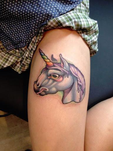 O arco-iris chifres de unicornio