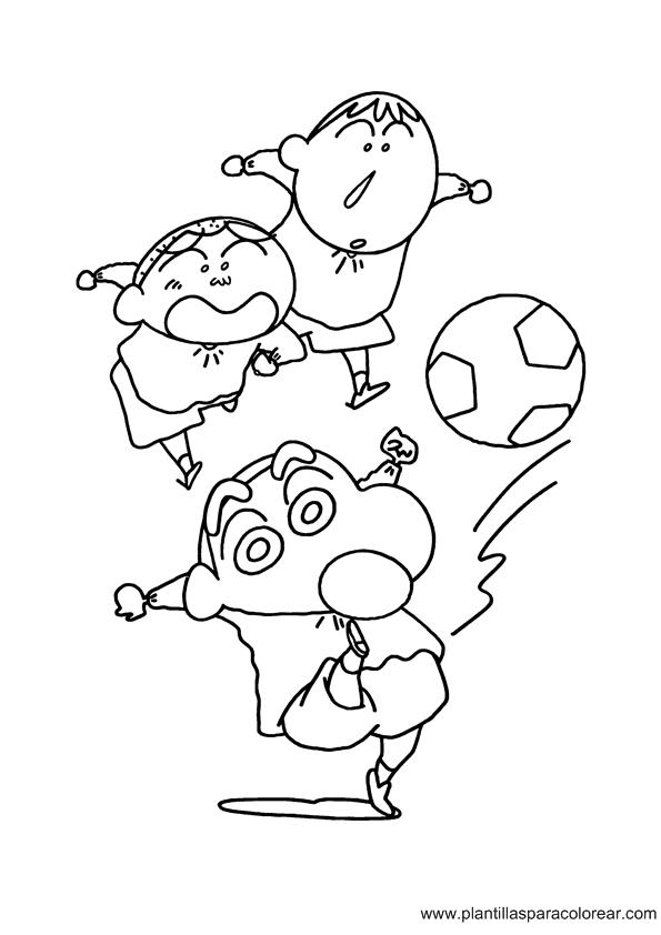 Shin chan para dibujar colorear imprimir recortar y pegar for Shin chan coloring pages