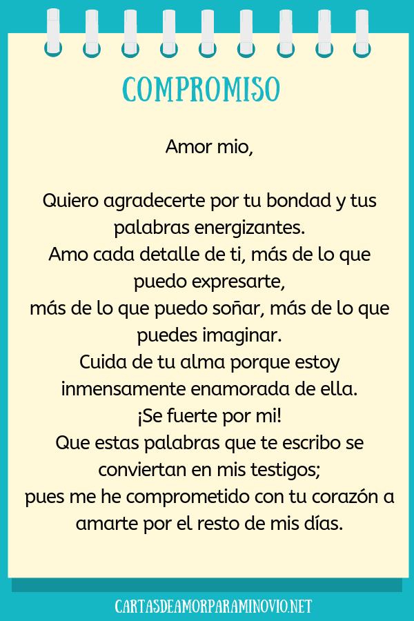 Carta de amor para mi novio corta - Compromiso