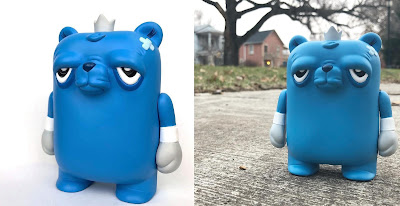 "Tenacious Toys Exclusive The Bearchamp Blue Edition 4"" Vinyl Figure by JC Rivera x UVD Toys"