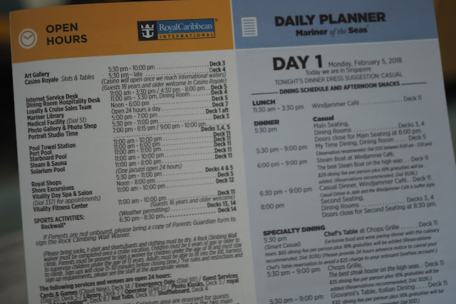 Mariner of the Seas Daily Planner Royal Caribbean