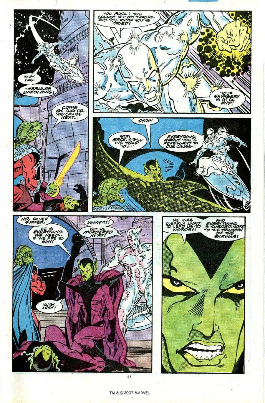 Read online Silver Surfer (1987) comic -  Issue #28 - 29