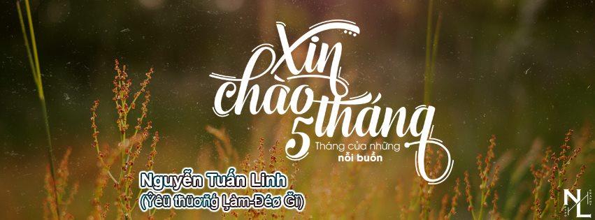 [SHARE] PSD ảnh bìa Xin Chào Tháng 5 - Tuấn Linh