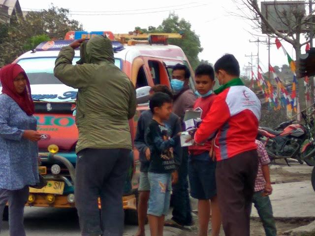 BSMI Gerak Cepat Bantu Para Korban Dampak Erupsi Gunung Sinabung