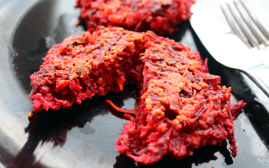 Beetroot & Quinoa Burgers (Vegetarian/Gluten-Free recipe)