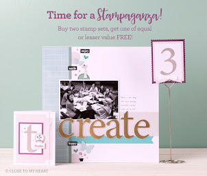 STAMPAGANZA - Buy 2 stamp sets at reg. price & get the THIRD stamp for FREE!!