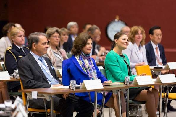 Queen Silvia of Sweden and Crown Princess Victoria of Sweden attended Dementia Forum X on May