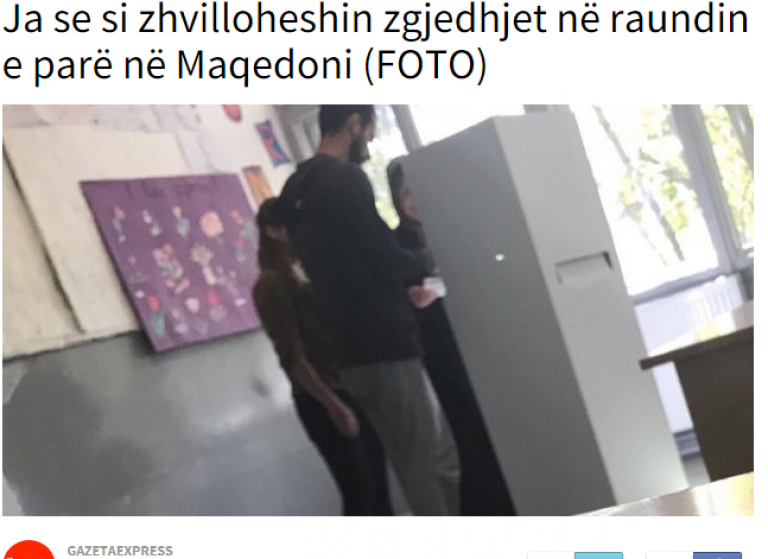 Albanian daily publishes photos of illegal voting during Macedonia's elections