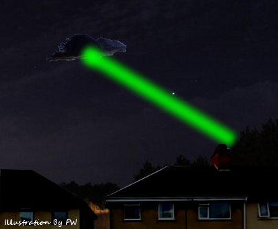 'Green Beam' UFO Sighting Over Hinckley 7-27-14