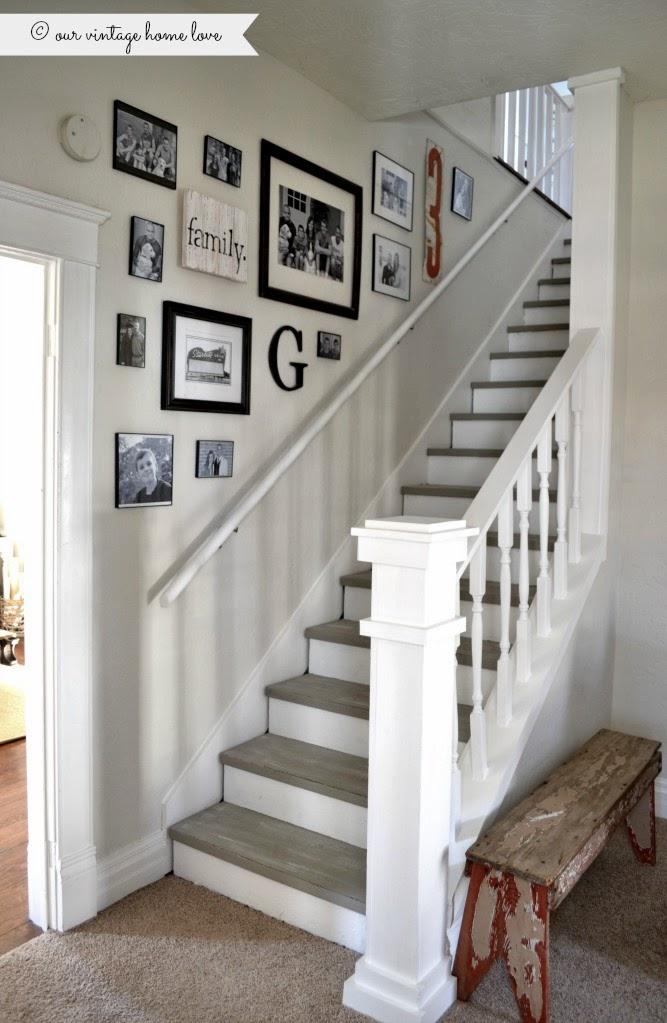 vintage home love: Stairway Renovation