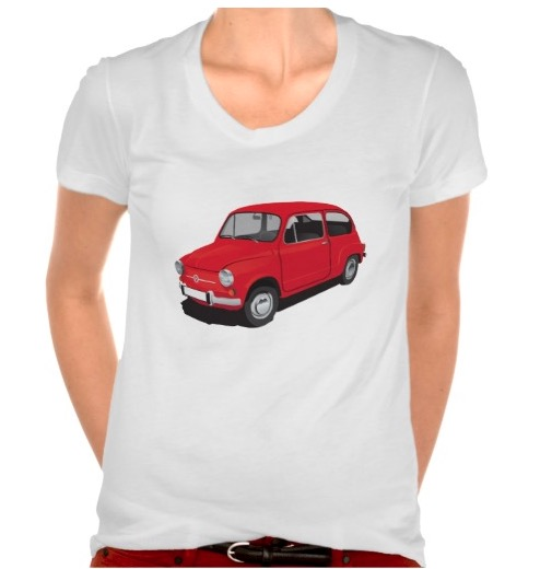 Red Fiat 600 Seicento t-shirt