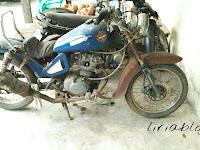 Modif Honda CB yang terbengkalai