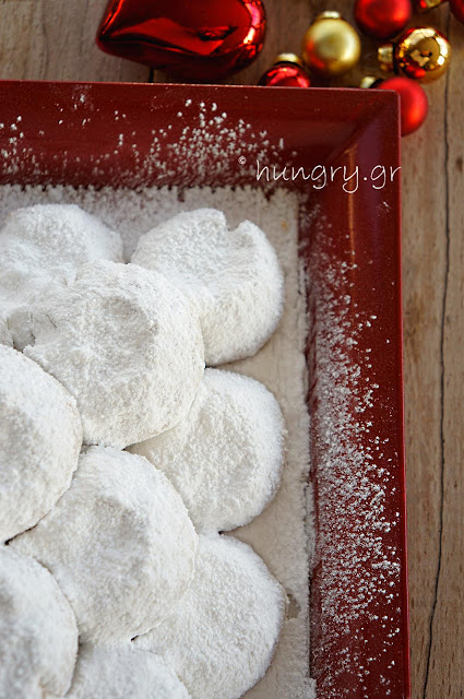 Kourabiedes: Greek Christmas Butter Cookies