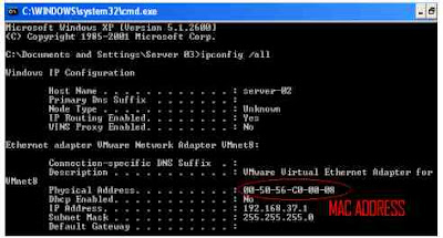 Cara melihat MAC address di windows