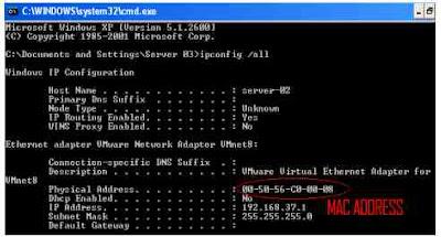 Cara melihat MAC address di windows