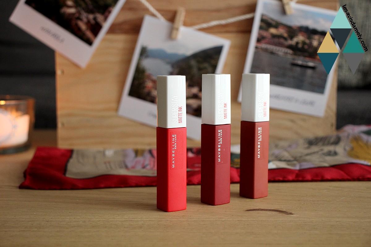 avis et test rouge à lèvres longue tenue Maybelline